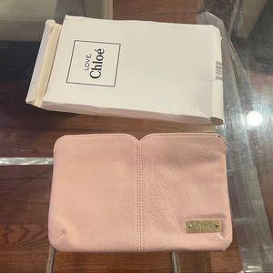 Chloe Pink Love Little Clutch Wrist bag